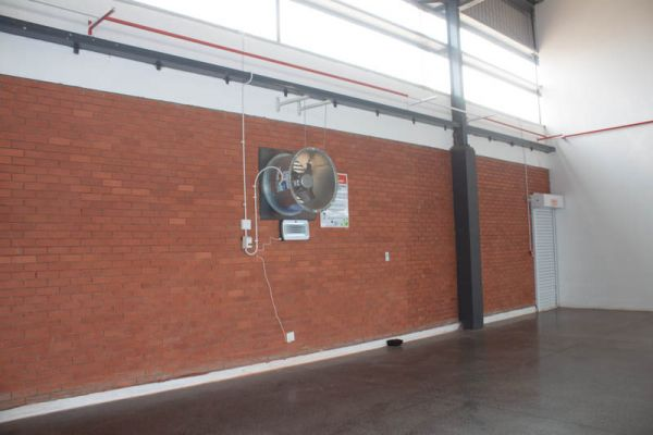 Various extraction fans are installed at the Midrand Market trade area as well as in the basement area.