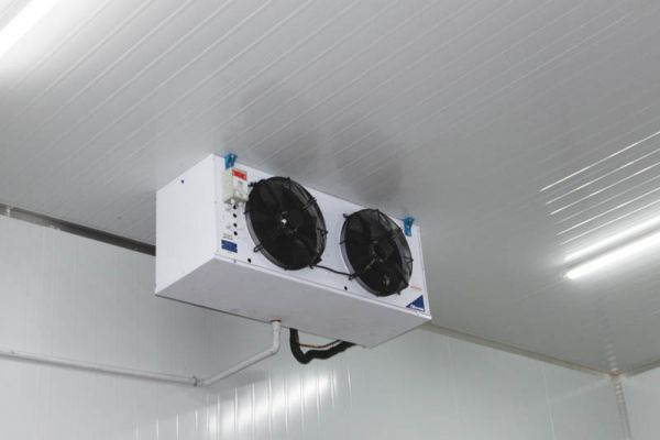 Each cold or ripening room is fitted with a fan coil unit appropriate for the room size.