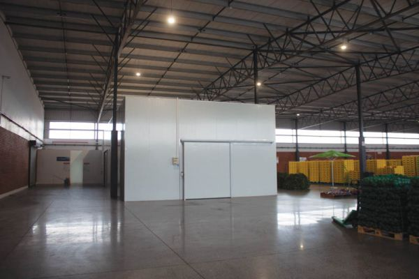 The two cold rooms at the Midrand Market were ready and installed within two weeks of the initial opening of the facility.