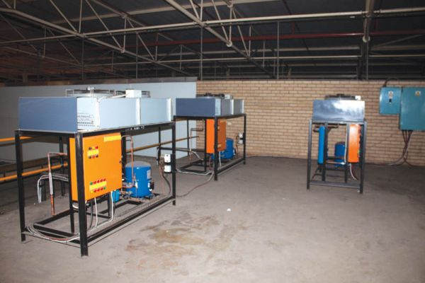 The Vaal cold and ripening room's condesnsing units and switchboards.