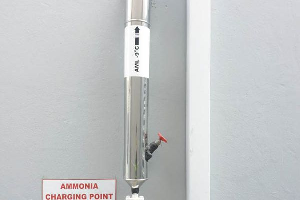 The ammonia charging point.