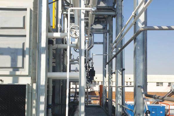 The condenser yard.