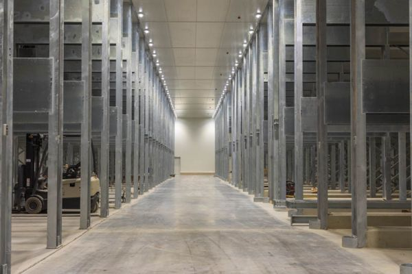 The steri-rooms have a 2 500 pallet capacity.