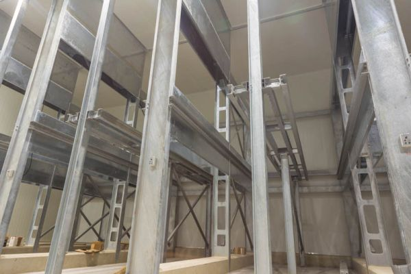 The steri-room racking that was designed and developed by Manny Dos Anjos.