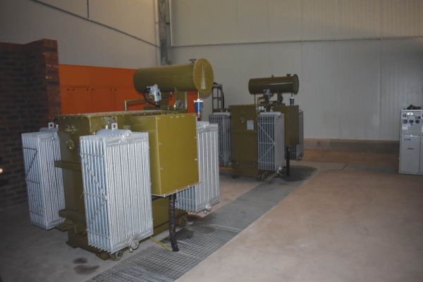 The electrical plant room.